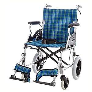Shisky Lightweight folding aluminum alloy inflatable wheelchair, disabled, portable wheelchair