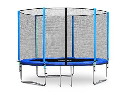 Trampolin 244 cm 8 ft mit Sicherheitsnetz Außennetz und Einstiegsleiter Neo-Sport Gartentrampolin (Neo Sport)