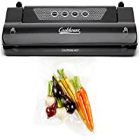 Cookhouse Vacuum Sealer Food Saver Machine, For Sous Vide, Baby, Dry and Moist Food, Clothes Packing, Keep Food Fresh, Minimise Freezer Odours and Prevent Spillage. Built in Bag Cutter and 3m Roll of Food Grade Sous Vide Vacuum Bag