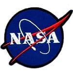 """ NASA "" Iron On Patch Blue"