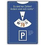 1 Geburtstagskarte: Glückwunschkarte zum 70. Geburtstag im Parkuhr Look: Es sind nur Zahlen!.