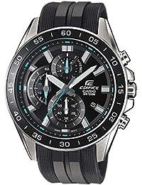 Casio EDIFICE Reloj en caja sólida de acero inoxidable, 10 BAR, Negro/Azul, para Hombre, con Correa de Resina, EFV-550P-1AVUEF