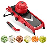 Godmorn Adjustable Vegetable Slicer,Mandoline Slicer with 6/9mm Julienne +1-6mm Slice + Square Dicer