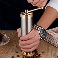 ELECTROPRIMEÃ'® Portable Manual Coffee Grinder Hand Crank Stainless Steel Coffee Bean Mill