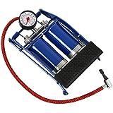Pompe à pied double cylindre pour valves Schrader - pression max. 7 bar