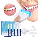 Teeth Whitening Kit ?Y.F.M. Home Professional Sbiancamento dei denti Set Teeth Whitening Bleaching System, 10x Sbiancamento dei denti 2x Kit vassoi per gel e luce laser