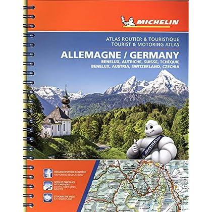 Atlas Allemagne, Benelux, Autriche, Suisse Tchequie Michelin 2019