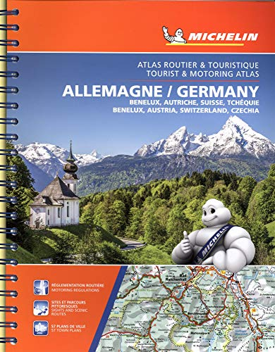 Michelin Germany, Benelux, Austria, Switzerland, Czechia Tourist & Motoring Atlas (Bi-lingual): Benelux, Autriche, Suisse, Tchequie / Benelux, Austria, Switzerland, Czech Republic