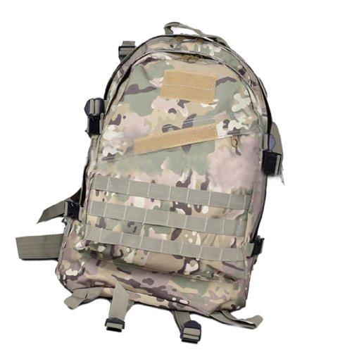 AOKALI 40L 3D Rucksack Nylon-Rucksack Tasche für Outdoor-Aktivitäten Rucksack Unisex - CP Camouflage CP Camouflage