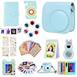 Bsuuy Instax Mini 9 Camera Accessories Set for Fujifilm Instax Mini 9/ Mini 8/ Mini 8+ Camera,Includes Mini 9 Case/Albums/Six Color Filters/Selfie Lens/Camera Sticker (12 in 1 Ice Blue)