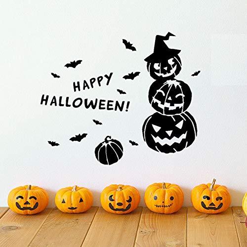 YUXAN Wandaufkleber Happy Halloween Hexe Fledermäuse Fenster Dekoration Glas Fenster Weihnachten Home Room Decoration60X50Cm (Halloween Paw Patrol-happy)