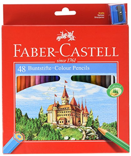 Faber-Castell Castle – Lápiz de color (Madera, Multi), multicolor