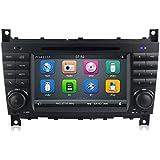 GPS DVD USB SD Bluetooth Radio 2Din navegador Mercedes Clase C W203/C220/C230/C240/C280/Clase CLK W209/CLK200/CLK220/CLK 240/Mercedes Clase CLC W203/W467/A209/W219/W467/CLK 220