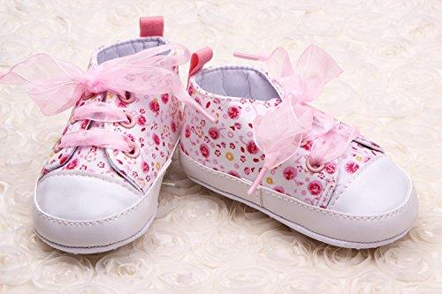 Lauflernschuhe Baumwolle Schuh Krabbelschuhe M盲dchen Band Baby Liebe Schleife Bigood Pink 8HpqAp