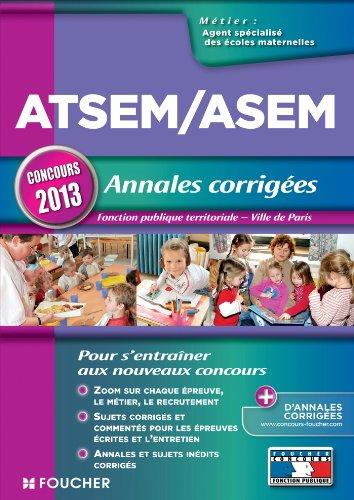 ATSEM/ASEM - Annales corrigés - Concours 2013