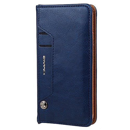 HARRMS Handyhülle Handytasche Samsung Galaxy S7 Edge mit Kartenfach Kredit Karten Geldklammer Hülle Kunst Leder Handy Schutzhülle