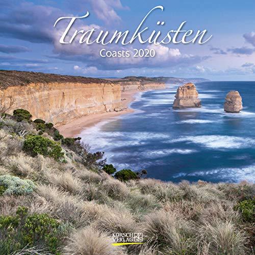 Traumküsten 2020: Broschürenkalender mit Ferienterminen. Bilder von Küste und Meer. 30 x 30 cm - Wandkalender