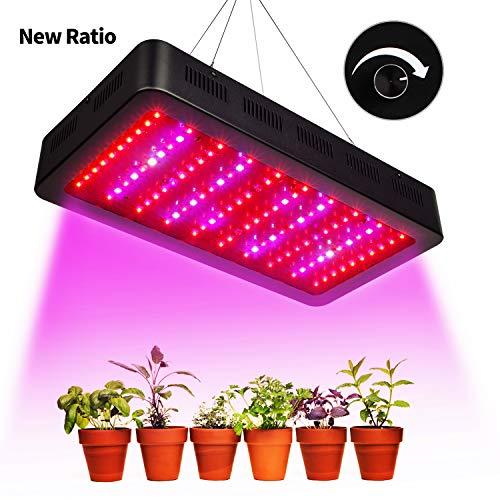 TOPLANET Lámpara de Plantas Regulable 300w Led Grow Light Plantas Iluminación Cultivo Lampara para Interior Plantas Crecimiento y Floracion