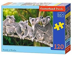 Castorland B-13289 - Puzle clásico con diseño de Familia de Koalas (120 Piezas)