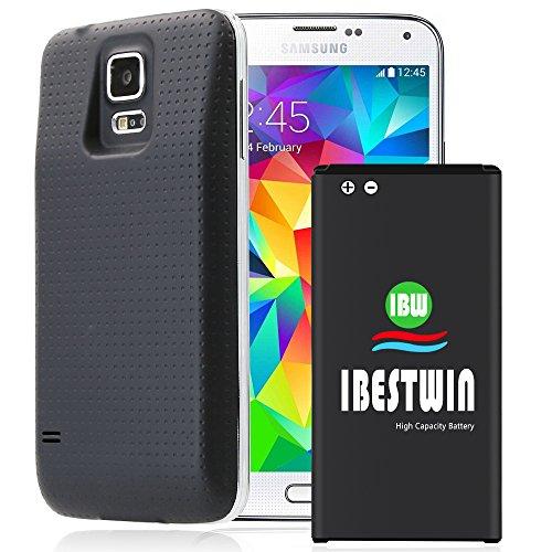 Galaxy S5 Akku, IBESTWIN 5600mAh Akku für Samsung Galaxy S5 SM-G900F EB-BG900BBE mit 3 Akkudeckel (12 Monate Garantie)