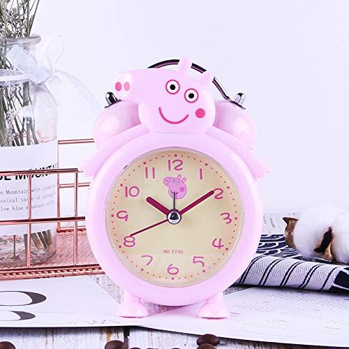 CZDXM Mini Reloj Despertador De Doble Campana Clásico De Dibujos Animados con Pilas, Reloj Despertador...