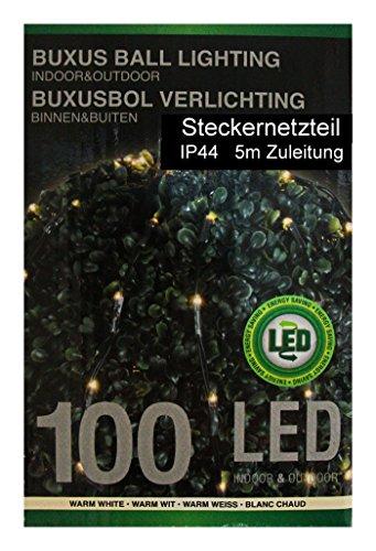 Lichternetz mit 100 LEDs Lichterkette Buchsbaum-Lichternetz Indoor Outdoor