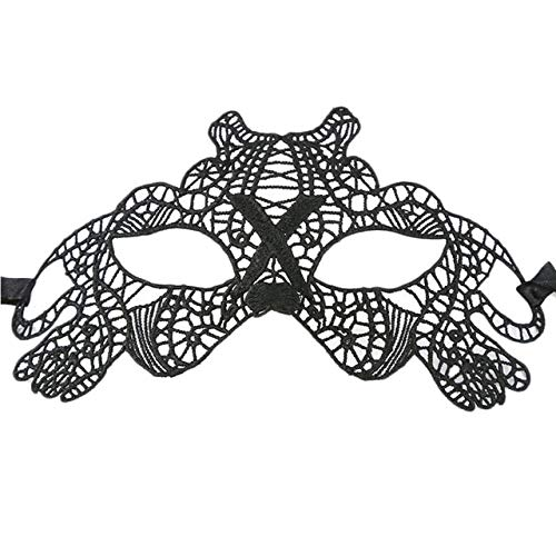 Kostüm Verführerische - Laliva Smiry Maske für Kostüm, sexy, Spitze, verführerisch, Ball, Halloween, 1 Stück, Schwarz Pet Dog
