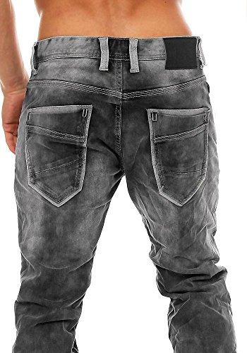 M.O.D Herren Jeans Carl Straight Leg destroyed grey denim