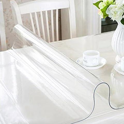 RAIN QUEEN Imperméable imprimé Nappe Film PVC 1mm Epais cristal Anti-tache protège table Meuble Pour Cuisine Restaurant (80*140*1cm,