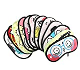 Hugestore 4 pz Cartoon Funny novelty Sleeping Eye Mask Sleep Mask Eye copertura benda per viaggi