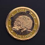 Fanaxii Totenkopf Münzen Schädel Münze Sammlermünzen Gedenkmünze Spiel-Münze Sammlerstück Medaille Sammlung Antik Zum Sammeln Geschenk Gold 1Pcs