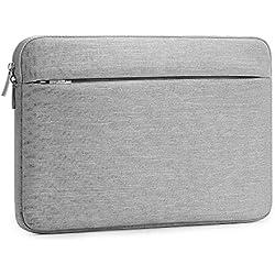 """AtailorBird Housse de Protection Ordinateur 15.6"""", Pochette PC Portable Ultrabook Sacoche Laptop Compatible 15.6 Pouces - Gris Clair"""