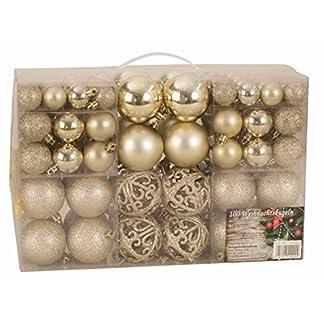 Exclusiva Bolas de navidad Bolas para árbol de navidad SET con Pieza 100 Color Color champaña
