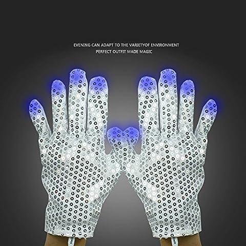 Zsjijia Michael Jackson-style LED gants pour la danse, Costume Show Prop Toy for Boys Girls Birthday