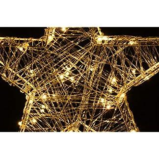 hibuy LED Estrella de Navidad 40cm con Iluminación LED y Temporizador