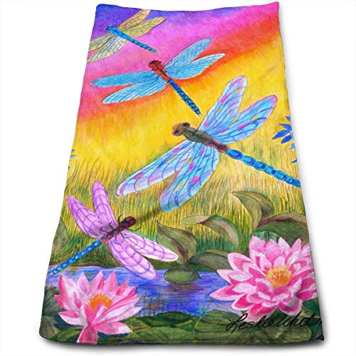 Osmykqe Dusk Dragonflies Microfiber Kitchen Towels Dish Towels Tea Towels(12 X 27.5 Inch) -