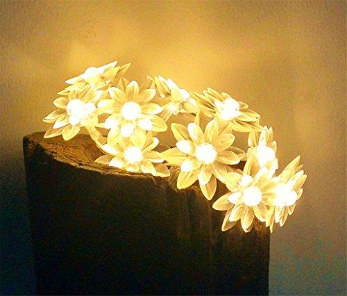 ERGEOB Sonnenblume LED Lichterketten, Gartenbaum Raum DIY dekorative Leuchten warmweiß 40LED