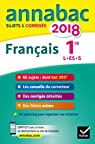 Annales Annabac 2018 Français 1re L, ES, S: sujets et corrigés du bac Première séries générales par Dauvin