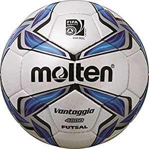 molten ballon de football pour foot en salle blanc bleu argent 4 f9v4800 sports et. Black Bedroom Furniture Sets. Home Design Ideas