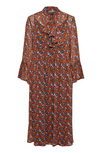 GESTUZ Damen Rosanna Long Dress Kleid, per Pack Rot (Small red Rose 90545), 40 (Herstellergröße: 40)