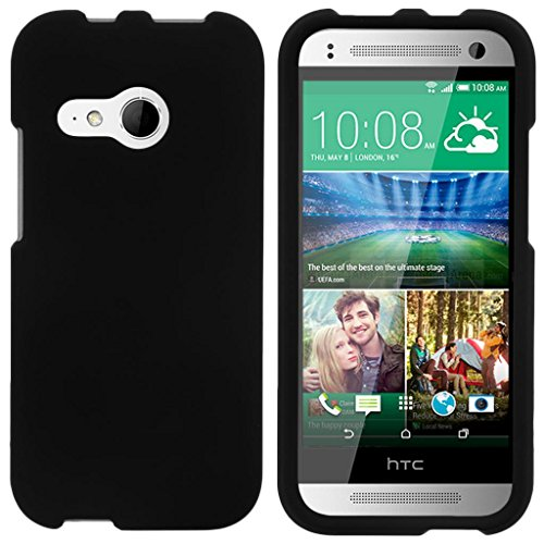 turtlearmor | Kompatibel für HTC One M8Mini Schutzhülle | One Mini 2| One Remix [Slim Duo] Zwei Stück Hard Cover Slim Snap auf Fall auf Schwarz -, Schwarz (Htc One Boost Mobile Telefon)
