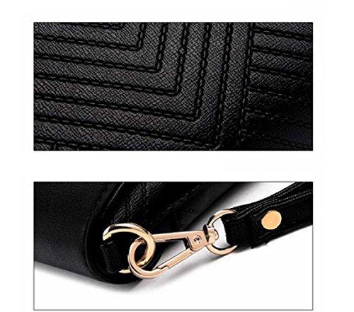 LAIDAYE Damen Handtaschenpaketbeutel Schulterbeutelumschlagbeutelbeutel Kurierbeutelfreizeithandbeutel 2