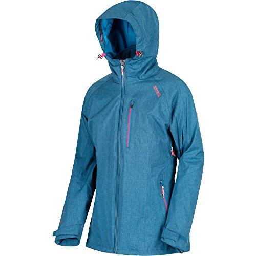 Regatta Damen Louisiana IV 3 in 1 Waterproof and Breathable with Zip-Out Fleece Jacke, Marokkoblau, 38 Zip Front Ski-jacke