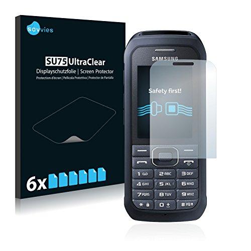Savvies Schutzfolie kompatibel mit Samsung Xcover 550 [6er Pack] - klarer Bildschirmschutz