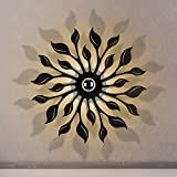 Retro Eisen wasserdichte Wandlampe, Nordic LED schwarz / weiß Wandleuchte moderne minimalistische Wohnzimmer Studie Schlafzimmer Nachttischlampe Persönlichkeit kreative Esszimmer Bar Korridor Wandleuchte ( Color : Black )