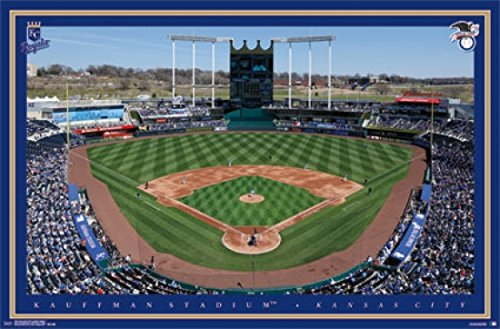Kansas City Royals Kauffman Stadium (Kansas City RoyalsTM - Kauffman Stadium 15 Poster Drucken (86,36 x 55,88 cm))