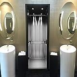 murimage Papier Peint Porte Ascenseur 86 x 200 cm Photo Mural Lift 3D Gris Noir et Blanc décoration Bureau séjour Wallpaper Colle Inclus