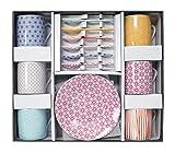 Casalanas Tokyo Design Studio, Star Wave, Espresso Set in dekorativer Geschenkbox, Porzellan Geschirr, 18 - teilig, 6 Personen.