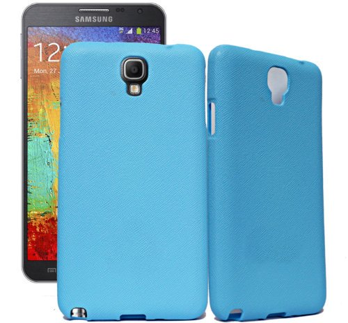 ECellStreet Samsung Galaxy Note 3 Neo N7500 N7505 Exclusive Neon Collection Light Blue Rubbersied Soft Back Case Cover Back Cover  available at amazon for Rs.195