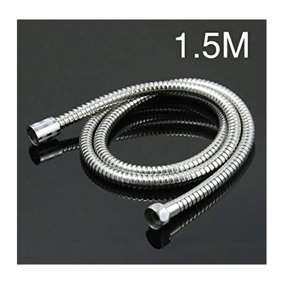TOTAL HOME :Flexible Bathroom Shower Hose Stainless Water Shower Head 1.5m Steel Hand Held